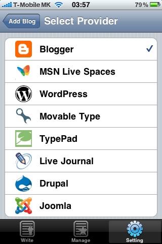 Видови на платформи за блогирање